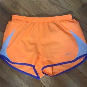 Nike orange dri fit shorts
